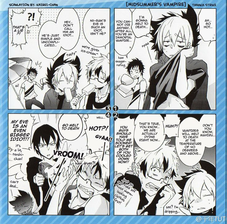 So I woke up too early and decided to scanlate this gem of a 4-koma manga from the first Drama CD that I found online. Credit goes to Weibo user 千年TUT for the RAW scan! :3 P.S. Since my Japanese is limited, there was this one part which meaning I'm...