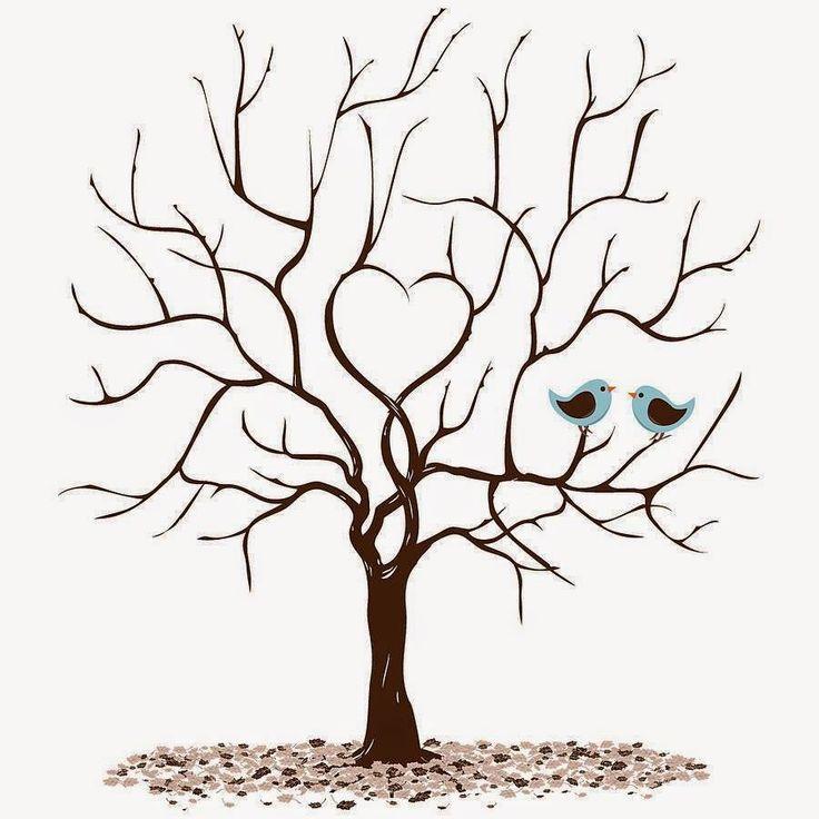 Noiva Geek: Faça você mesmo: Árvore de digitais para baixar e usar na sua festa