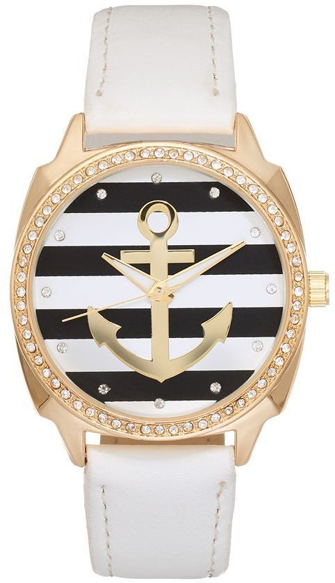 Women's Crystal Striped Anchor Watch