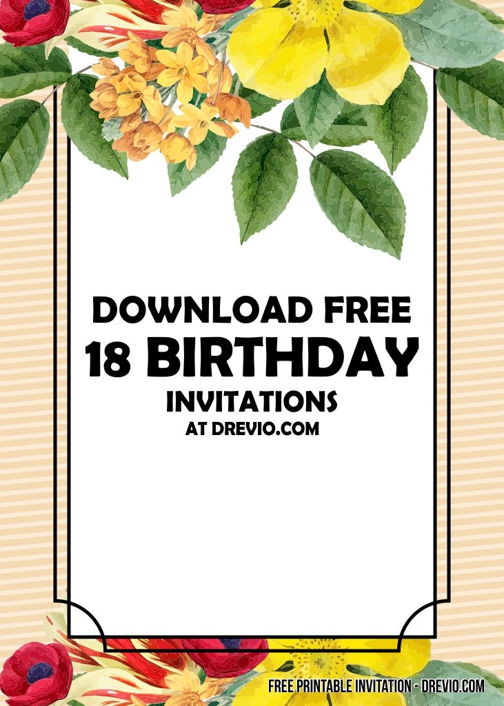 Free Printable 18th Birthday Invitation Templates Free Birthday Invitation Templates Free Printable Birthday Invitations Birthday Party Invitation Templates