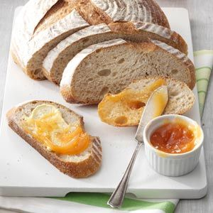 """Pretty Peach Jam Recipe -""""This has been a favorite jam in my family for as long as I can remember,"""" relates Theresa Beckman of Inwood, Iowa. """"It's a delicious medley of fruits, including peaches, cherries, pineapple and orange."""""""