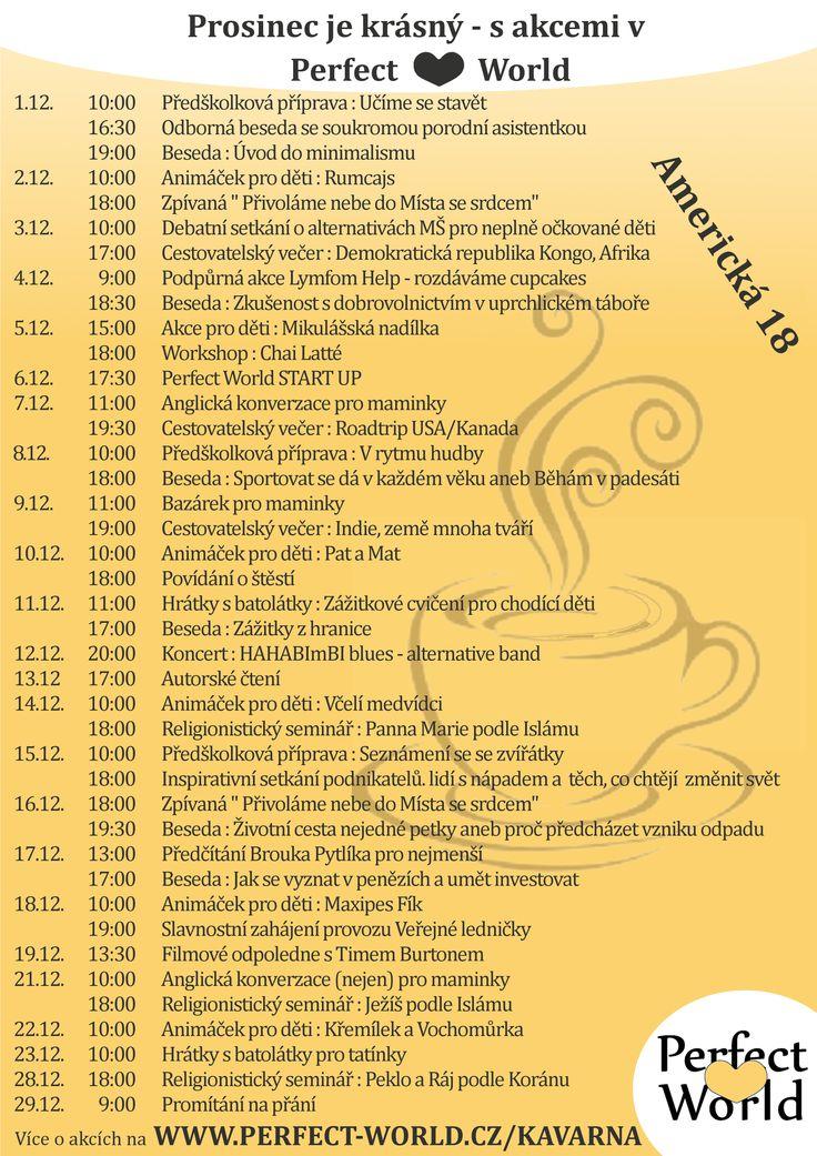 Tady vám představujeme kompletní program na prosinec s mnoha zajímavými akcemi, které si nesmíte nechat ujít!