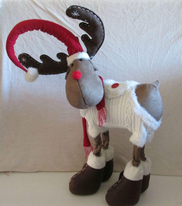 Grand renne en peluche, La Galleria collection