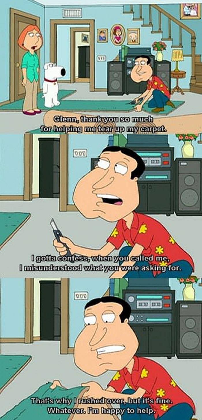 Tear up my carpet! - Family Guy