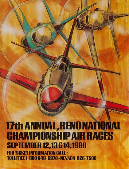 DP Vintage Posters - 17th Annual Reno Air Races Poster 1980