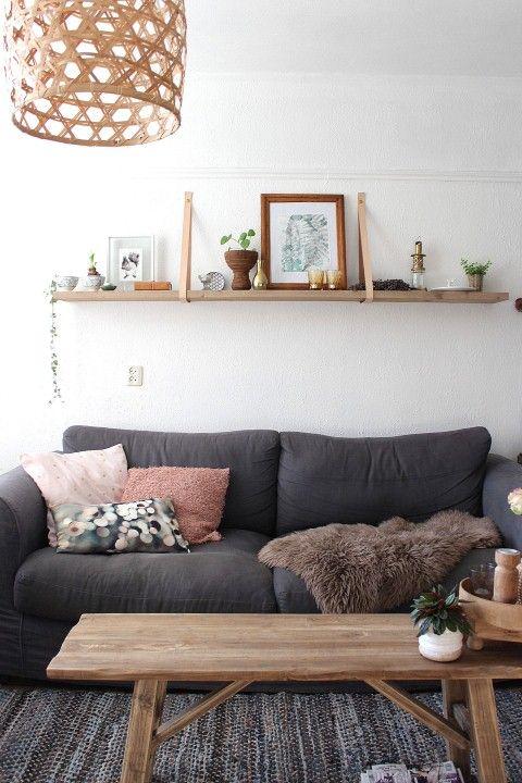 Tv Op Plank Aan Muur.Woonkamer Plank Wit Gehoor Geven Aan Uw Huis