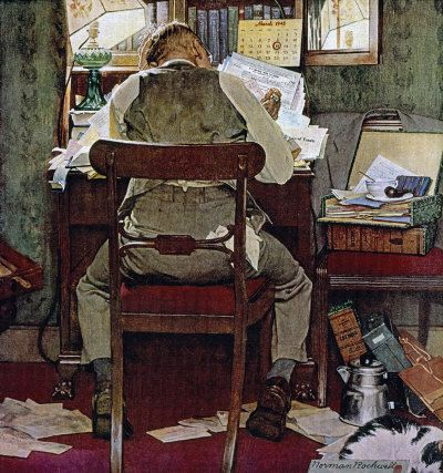 Original Norman Rockwell Paintings | Norman Rockwell's Income Tax