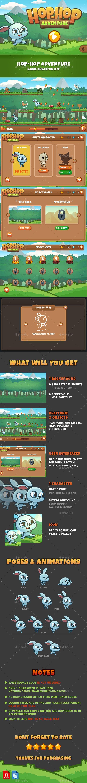 Hop Hop Adventure Game Kit - Game Kits #Game Assets Download here: https://graphicriver.net/item/hop-hop-adventure-game-kit/15802919?ref=alena994