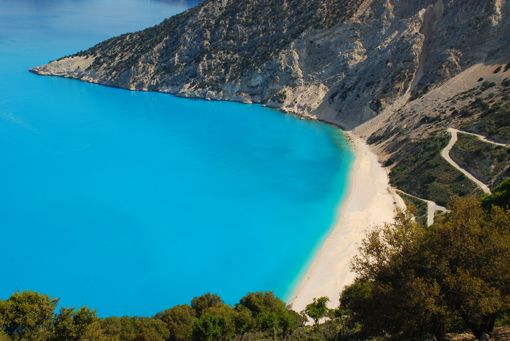VISIT GREECE  Myrtos #beach #Kefalonia #Ionian islands #Greece