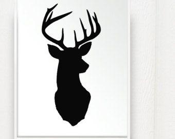 Deer heads silhouette and deer on pinterest