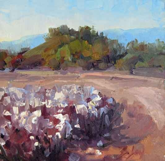 cotton field oil painting in Arizona. sold | PAINTINGS ...