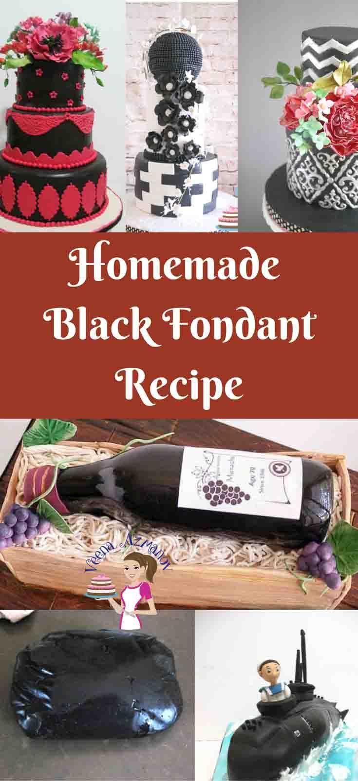 Perfect homemade black fondant recipe vanilla or chocolate black fondant