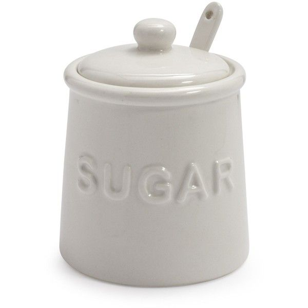 Sur La Table Sugar Bowl with Lid and Serving Spoon found on Polyvore