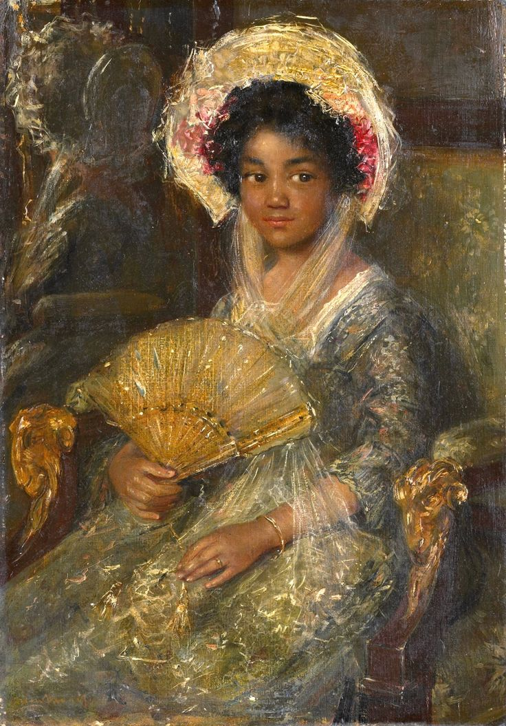 1800s Week! Simon Willem Maris Portrait of a Young Black Woman Netherlands (1890s) 44 x 29 cm. Rijksmuseum, Amsterdam The Image of the Black in Western Art Research Project and Photo Archive, W.E.B....