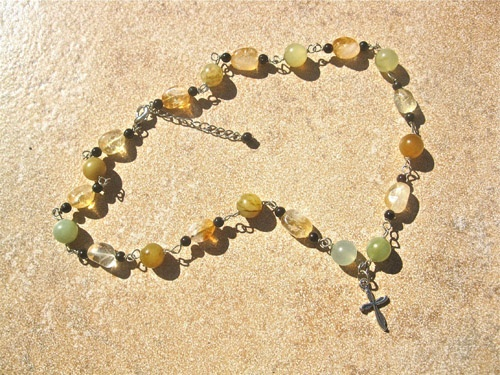 Citrine necklace - Citrine jewellery is often gifted for joy . . and to wish success