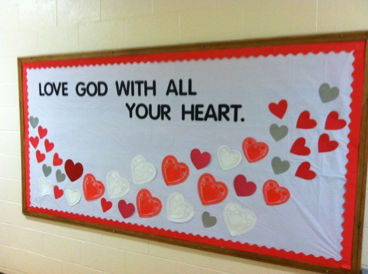 Valentine bulletin board                                                                                                                                                     More