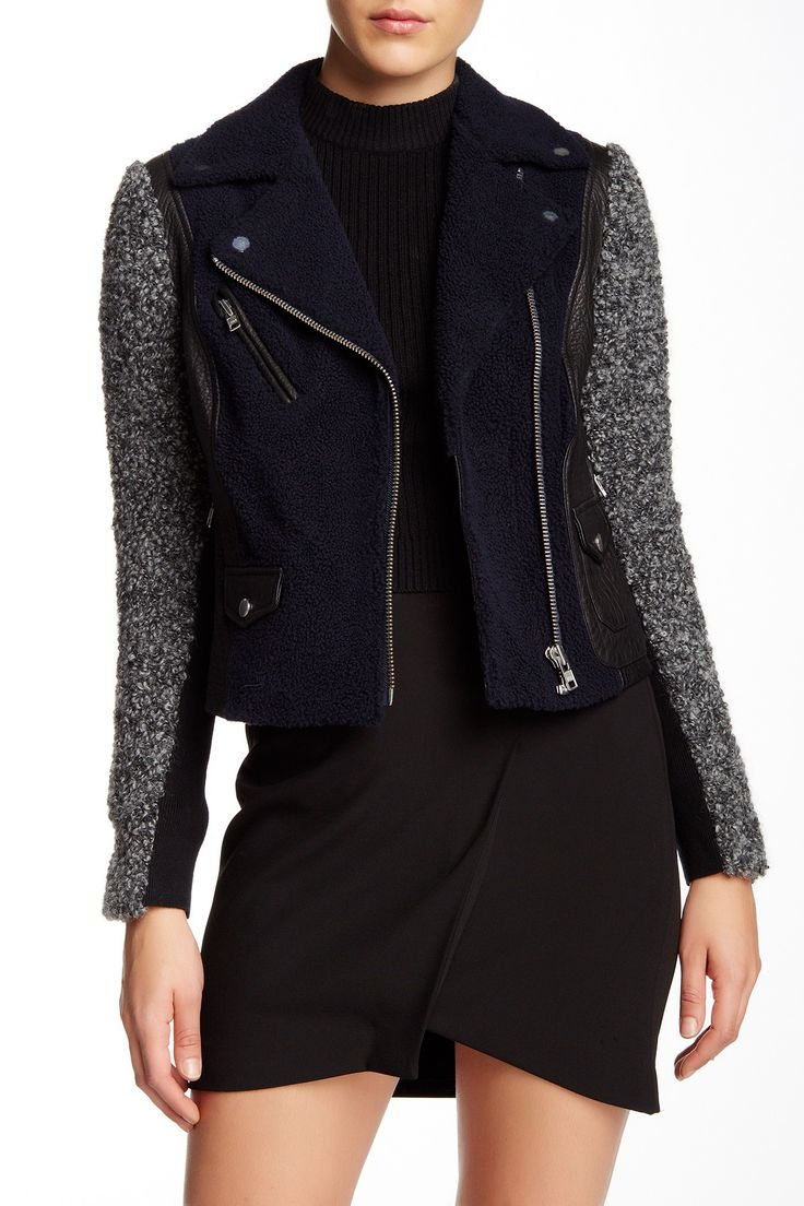 Genuine Shearling Leather Jacket by Yigal Azrouel on @nordstrom_rack