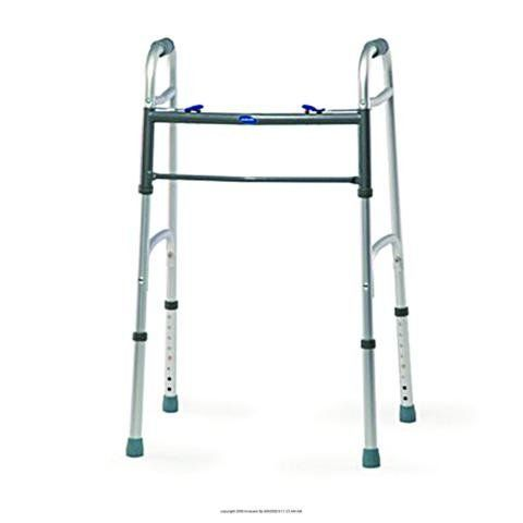 "(CS) Dual Blue-Release(c) Walker by INVACARE CORPORATION. $114.41. Style~Junior^Fits Users~4' 4"" - 5' 7""^Height Adjusts~25"" - 32""^Weight~5 lb, 5 oz^Depth~16""^. Product is sold on this unit of measure - CS. Stable, lightweight, and easy to lift and maneuver. Features dual Blue-Release mechanisms that provide both visual and audible ""locked"" cues, and anti-rattle ""silencers"" for quite operation. Wide, deep frame constructed with side braces for strength and rigidity. Compatibl..."