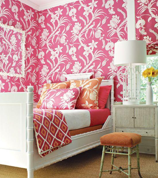183 best Orange coral yellow bedroom images on Pinterest | Bedrooms ...