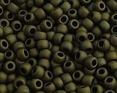 Toho Seed Beads 11/0 Matte-Colour Dark Olive (617) 5g/10g/20g/30g