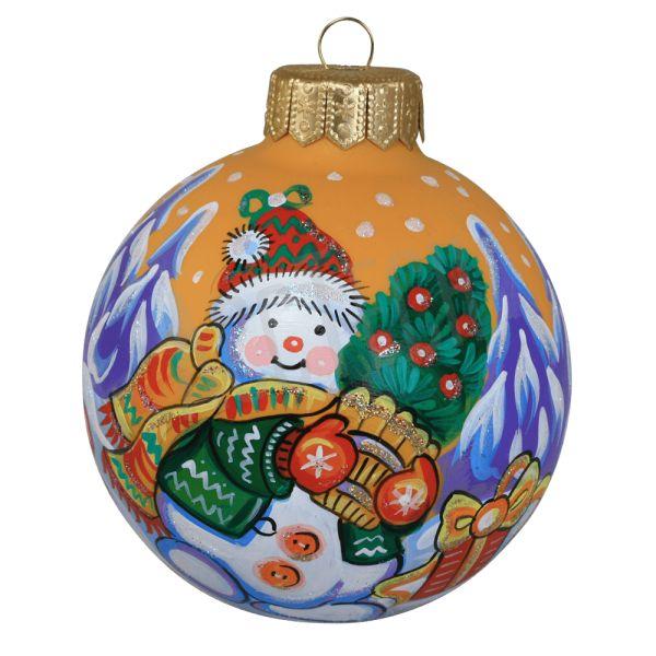 """Новогодний шар """"Снеговик"""""""