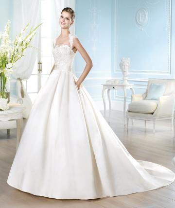 Srdíčko Obrácený trojúhelník Klasické & nadčasové Designer Svatební šaty