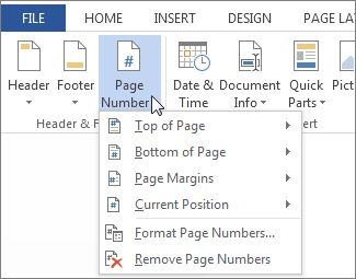 pagination word dissertations