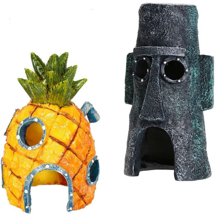 Mini For SpongeBob & Squidward House Style Pineapple Cartoon House Home Fish Tank Aquarium Ornament Decorations Escape Hole #clothing,#shoes,#jewelry,#women,#men,#hats,#watches,#belts,#fashion,#style