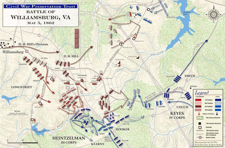 Battle of Williamsburg map, Civil War Preservation Trust