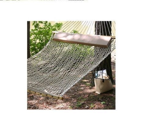 Castaway Polyester Rope Hammock with Pillow Outdoor