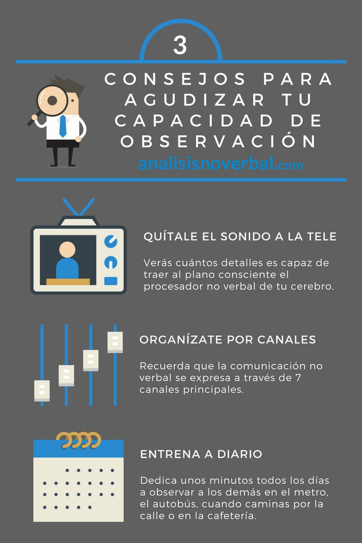 3 consejos para agudizar tu capacidad de observar la comunicación no verbal #infografia #infographic - GjavierMartinC.com