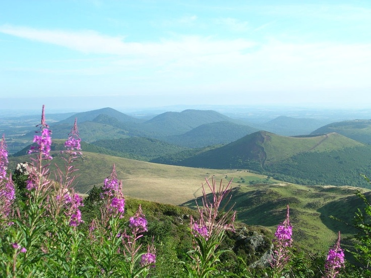 Massif Central, ancient volcanoes in France
