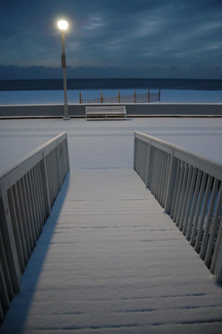 snow morning, In Ocean City Maryland