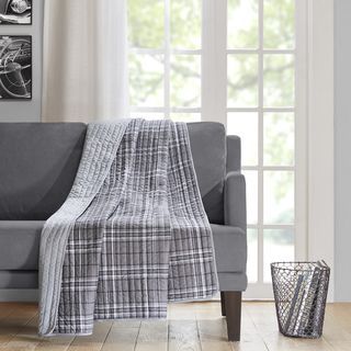 Shop for Intelligent Design Campbell Grey Oversized Quilted Throw. Free Shipping…