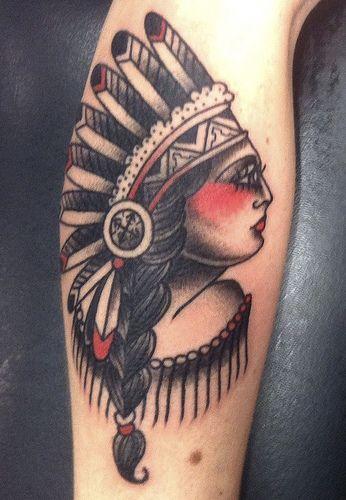 Native American #tattoo #ink #american