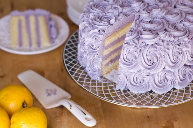 Lemon Layer Cake with Blueberry Lavender Buttercream | The ...