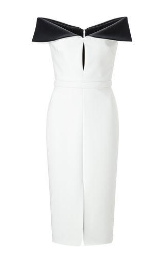 Cushnie et Ochs - Black and White Neoprene Sheath Dress