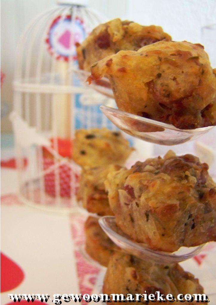Pizza muffin/cupcake lekker als borrelhapje!