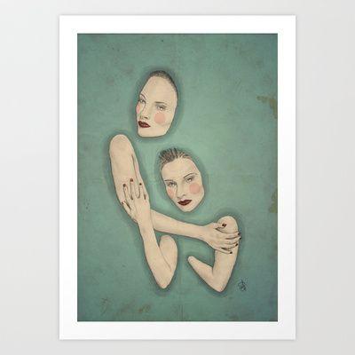 Drowning Art Print by Sofia Azevedo - $18.00