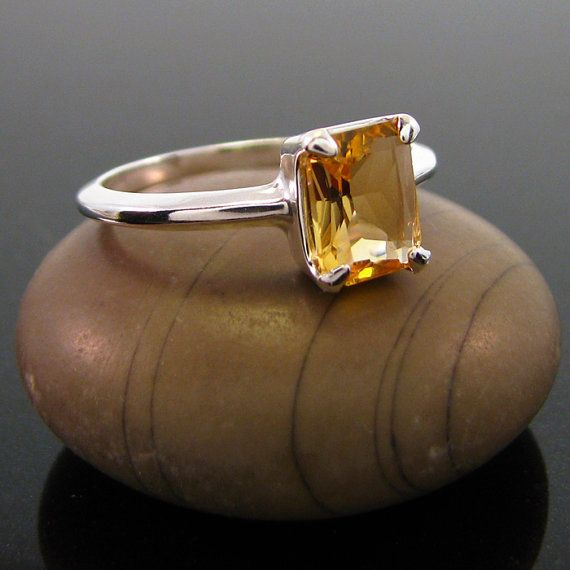citrine ring, Citrine Ring Silver - ring citrine size 8 - sterling silver…