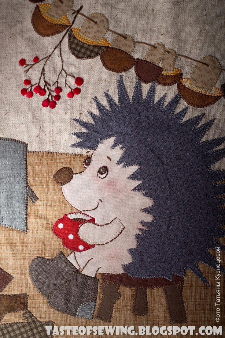 A taste of sewing: Картинка с ёжиком