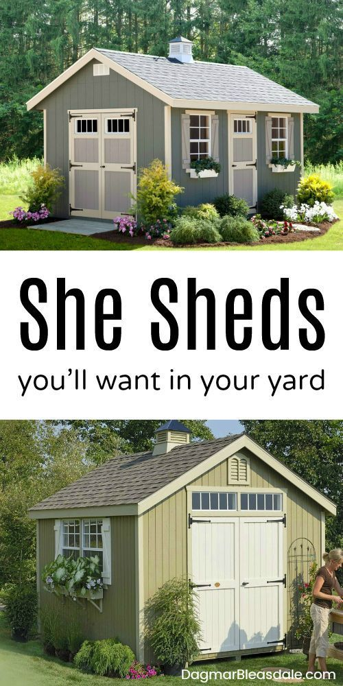 She Sheds Are An Easy Way To Add Extra Room Your Home Just For You Here Kits Can On Sd Shed Yard Backyard Homedecor