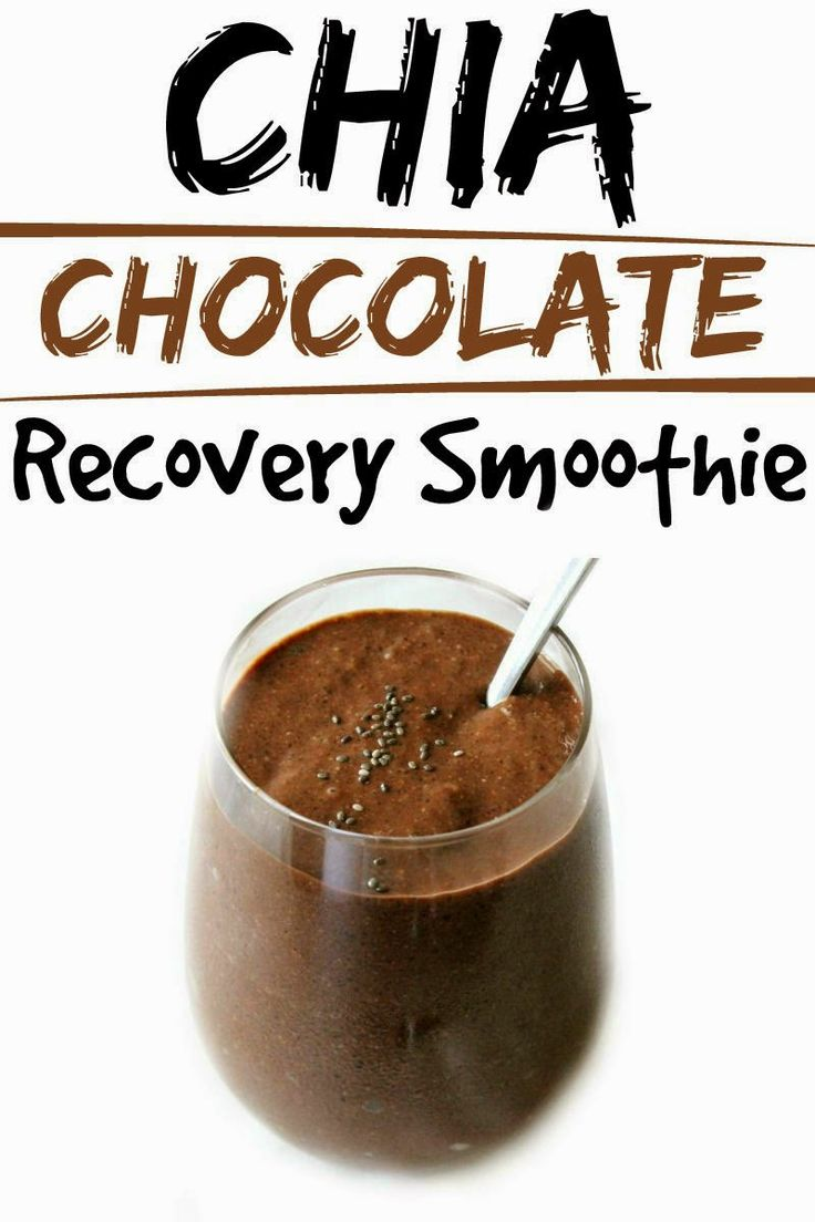 Healthy Living: Chia Chocolate Recovery Smoothie