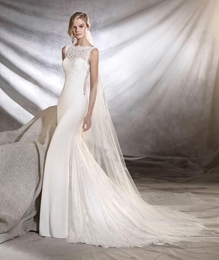 Oreste from Pronovias is available at Sincerely, The Bride located in the Vancouver, WA/Portland Metro area. #sincerelythebride #oregonbride #nwbride