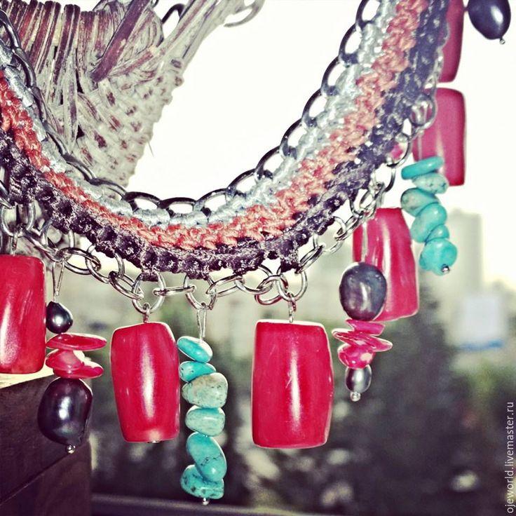 "Ожерелье ""Страстные кораллы"" - ожерелье"