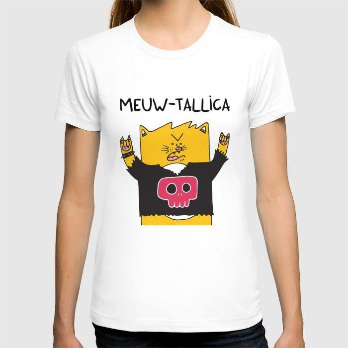 Meuw-tallica T-shirt by Adrian Serghie | Society6