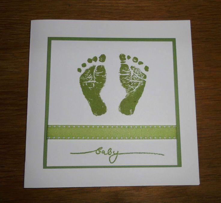 Glückwunschkarte zur Geburt / zum Baby - Stampin up