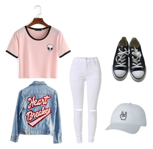 """#casual #ootd"" by lukeingatyoucal ❤ liked on Polyvore featuring High Heels Suicide and Converse"