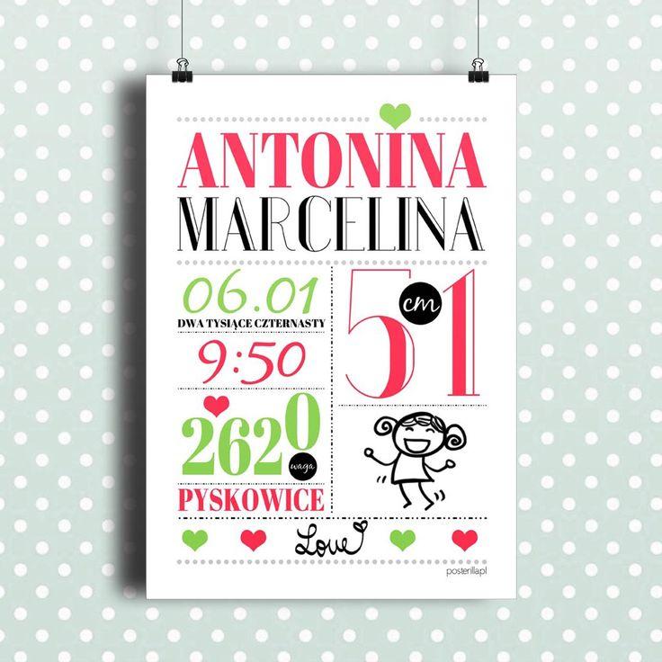 plakaty personalizowane z napisami dla dzieci P010