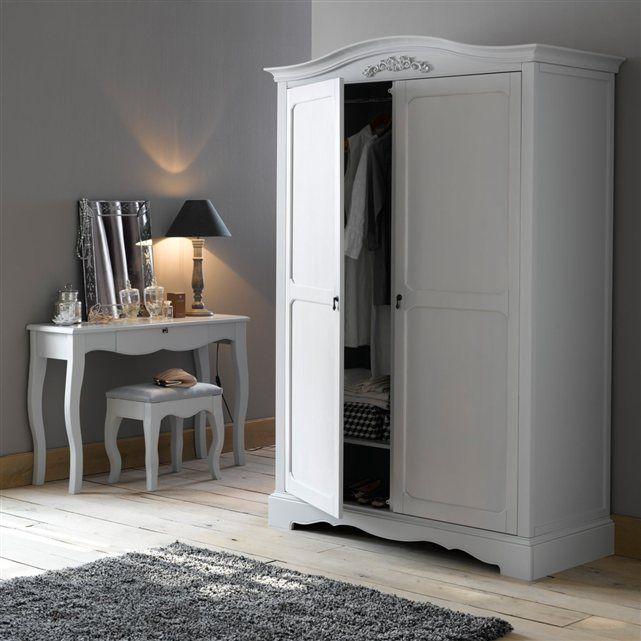armoire penderie portes h cm lison with armoire dressing. Black Bedroom Furniture Sets. Home Design Ideas